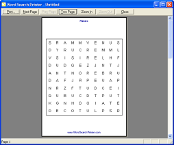 Word Search Printer - Screenshot 4